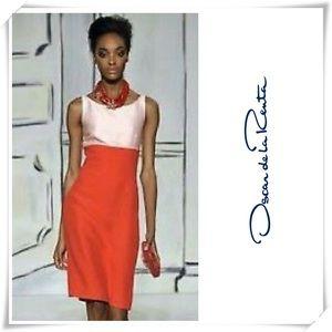 NWT Oscar de la Renta Two-tone Color Dress